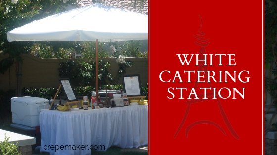 CrepeMaker White Catering Station