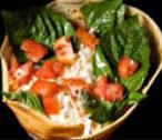 tomato cheese basil crepe