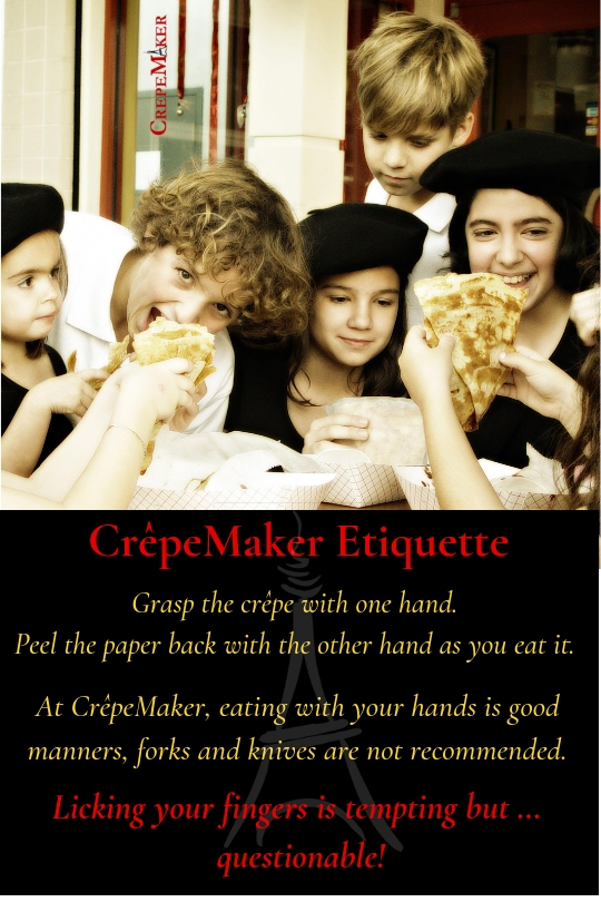 How to eat a crepe